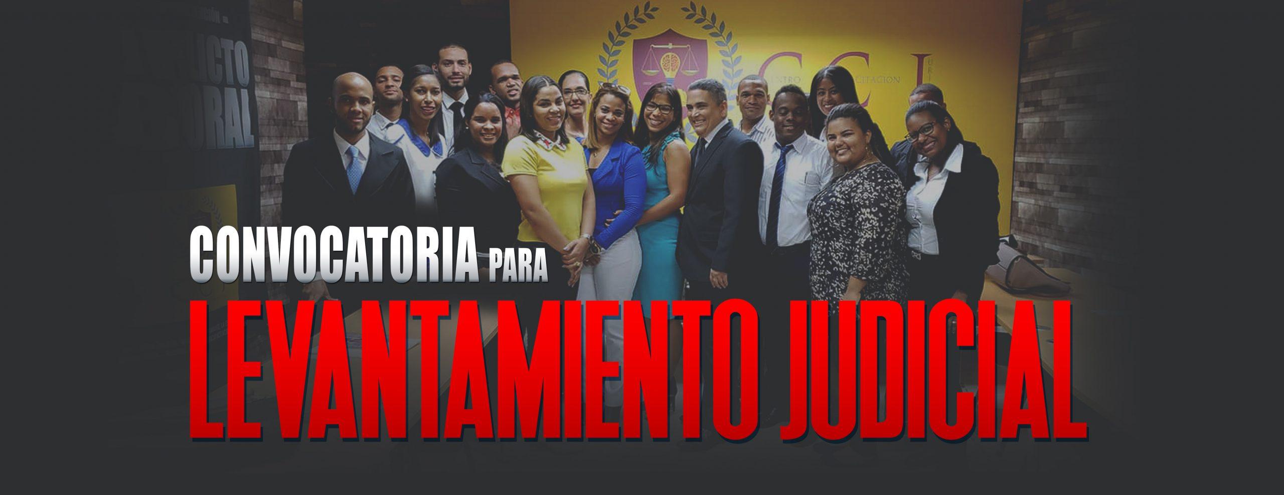 Convocatoria para Levantamiento Judicial